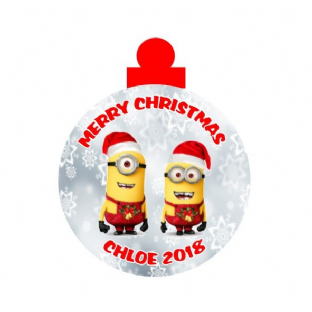 Minions Acrylic Christmas Ornament Decoration